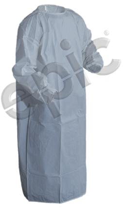 Tian's 816851TS Coated Barrier / Cleanroom White Gown With Thumb Loops