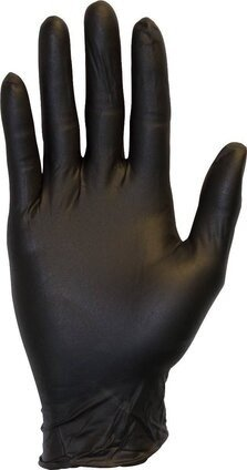 Safety Zone GNPR-BK 4 Mil Black Nitrile Powder Free Gloves