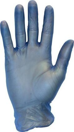 Safety Zone GVDL-1 Blue Lightly Powdered Vinyl Gloves