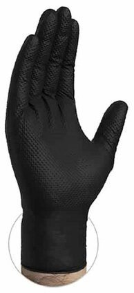 Gloveworks HD 6 Mil Black Nitrile Powder Free Gloves with Diamond Texture