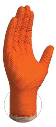 Gloveworks GWON4 10 Mil Heavy Duty Orange Nitrile Powder Free Gloves