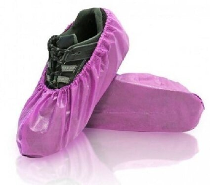 BlueMed Lily Water Resistant Shoe Covers - Universal Size - Made in North America