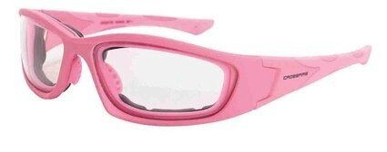 Crossfire MP7 24264AF Clear Anti-fog Lens, Soft Pink Frame Safety Glasses