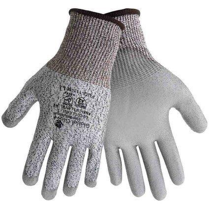 Global Glove PUG-111 -Gray PU on HDPE- Ansi Level 2 Cut Resistance