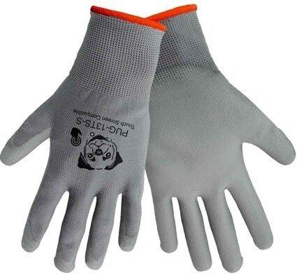 "Global Glove ""Atlas 370 Style"" PUG-13 Gray Polyurethane Dip Touchscreen Gloves"