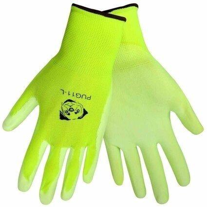 "Global Glove ""Atlas 370 Style"" PUG-11 Hi Vis Polyurethane Dip Gloves"