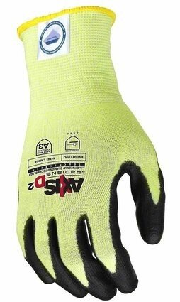 Radians RWGD100 Axis TouchScreen Cut Level A3 Dyneema Work Gloves