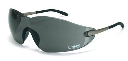 Crews Blackjack Gray Lens Safety Glasses