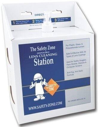 Safety Zone 16 oz Anti-Fog Lens Cleaning Solution with Tissues