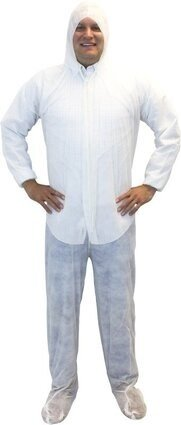 Safety Zone Polypropylene Coveralls with Hood, Boots and Elastic Cuffs - DCWF/DCBF