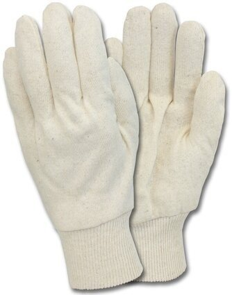 Safety Zone Natural White Cotton Jersey Gloves