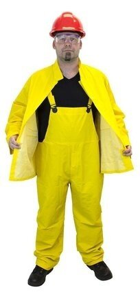Safety Zone Yellow 3 Piece Waterproof 35mm PVC/Poly Rain Suit