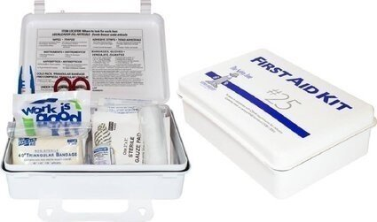 Safety Zone 25 Person Plastic Wall Mountable First Aid Kit - Osha Compliant
