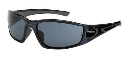 Crossfire RPG 23421 Smoke Lens, Crystal Black Frame Safety Glasses