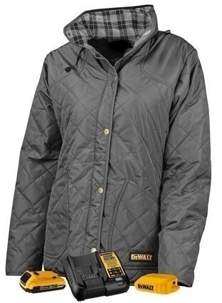 DeWalt DCHJ084CD1 Women's Flannel Lined Quilted Heated Jacket