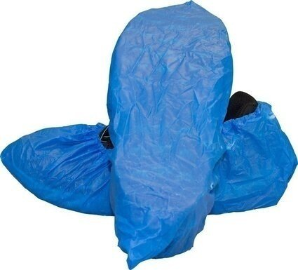 Safety Zone Blue Waterproof Shoe and Boot Covers