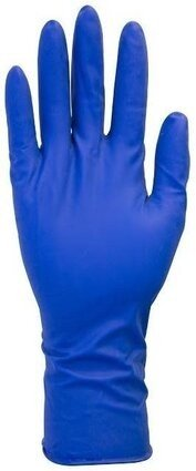 "Safety Zone GRHL-5M-P 13 Mil 12"" Blue Latex Powder Free Disposable Gloves"