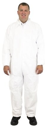Safety Zone 60 Gram Microporous Tyvek-like Coveralls with Elastic  Cuffs - DCWH-BB-EWA
