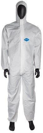 Liberty Glove Permagard II E18127 Microporous Coveralls with Hood and Elastic Cuffs