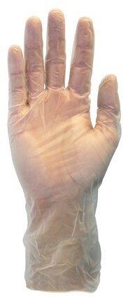 Safety Zone GVPL-1C 12 Inch Powder Free Clear Vinyl Gloves