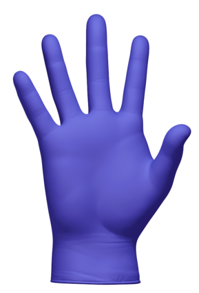 Clean Safety CS410X Iris Blue Nitrile Powder Free Exam Gloves - Double Case