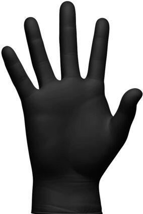 Clean Safety CS450X 6 Mil Black Powder Free Nitrile Exam Gloves