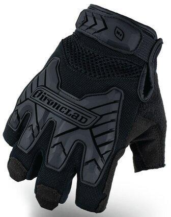 Ironclad Command Tactical Fingerless Impact Gloves  IEXT-FIBLK  TAA Compliant