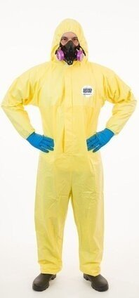 Enviroguard 7015YS Tyvek Like Chemical Resistant Coveralls With Hood