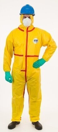 Enviroguard 7015YT Tyvek Like Chemical Resistant Coveralls with Hood