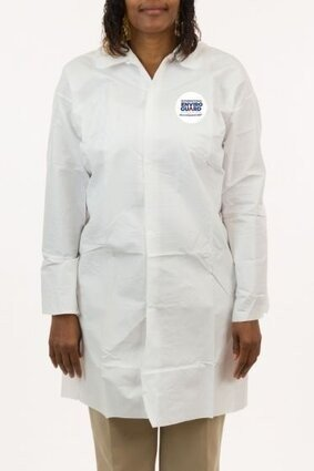 Enviroguard 8024 MicroGuard Microporous Lab Coats - Open Wrists, No Pockets - Compare to Tyvek