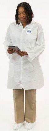 Enviroguard 8025 Tyvek Like MP Liquid Resistant Lab Coats  with Pockets