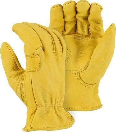 Majestic 1564  Elkskin Drivers Gloves With Double Palm