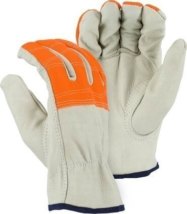Majestic 2510HVO Cowhide Hi Vis Drivers Gloves