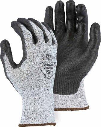 Majestic 35-1500 Cut-Less Watchdog Seamless Knit Gloves with PE Palm Coating - Ansi Cut 4