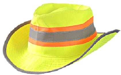 OccuNomix SH200 Western Ranger Hat - Hi Vis Yellow