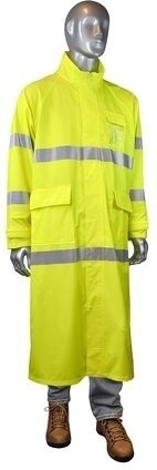 Radians RW07 Hi Vis Waterproof Long Rain Coat - ANSI 3