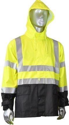 Radians RW07 Hi Vis Waterproof Rain Jacket with Detachable Hood - ANSI 3