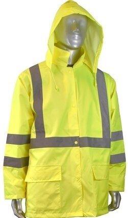 Radians RW10-3S1Y Lightweight Waterproof Rain Jacket with Detachable Hood - Zipper Closure