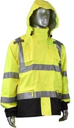 Radians RW32-3Z1Y HD Rip Stop Waterproof Rain Jacket with Attached Hood