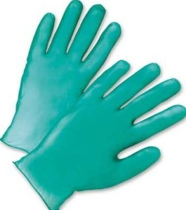West Chester 2765 5.5 Mil HD Lightly Powdered Green Vinyl Gloves
