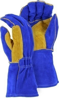 Majestic 1514BLT FR Leather Welders Gloves with Reinforced Thumb Strap - Size Large