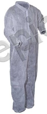 Tian's Polypropylene Low Lint Coveralls with Elastic Wrists & Elastic Ankles
