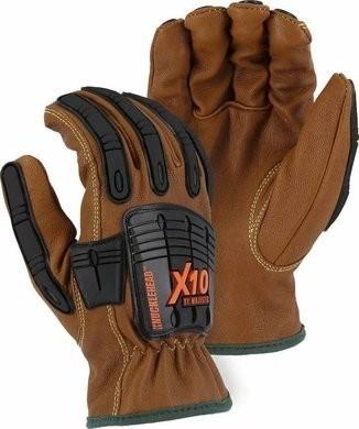 Majestic 21285WR Cut-Less Kevlar® Goatskin, Arc, Oil & Water Resistant Impact Gloves