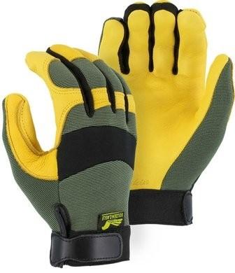 Majestic 2150GR Golden Eagle Mechanics Deerskin Gloves