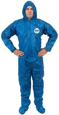 ViroGuard Microporous Coveralls with Hood & Boot, Elastic Wrist & Back