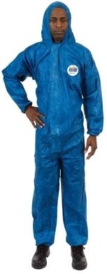 ViroGuard Microporous Coveralls with Hood, Elastic Wrist & Back