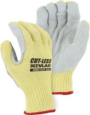 Majestic 3120 Cut-Less Kevlar Leather Palm Cut Level A4 Gloves