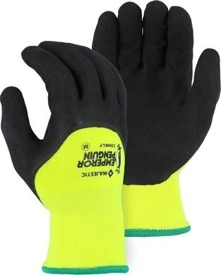 Majestic 3399KLY Emperor Penguin Winter Lined Gloves with 3/4 Sandy Latex Palm