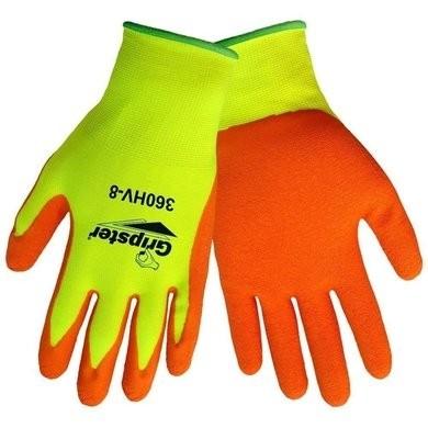 Global Glove Gripster #360HV Foam Rubber Dipped Hi Vis Gloves