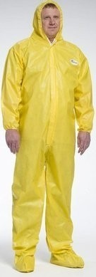West Chester PosiUB Plus Yellow Coveralls with Hood and Boots - BACKORDER OCTOBER